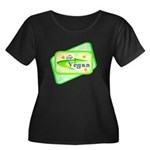 Go Vegan Women's Plus Size Scoop Neck Dark T-Shirt