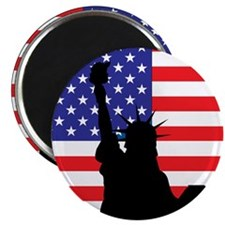 "Lady Liberty Silhouette #2 2.25"" Magnet (100 pack)"