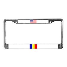 USA/Romanian Flag License Plate Frame