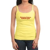 Everyone Loves a Catholic Girl Ladies Top
