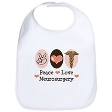 Peace Love Neurosurgery Bib