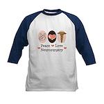 Peace Love Neurosurgery Kids Baseball Jersey