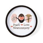 Peace Love Neurosurgery Wall Clock