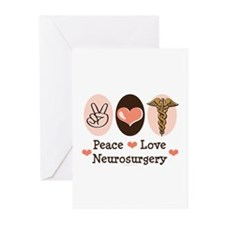 Peace Love Neurosurgery Greeting Cards (Pk of 20)