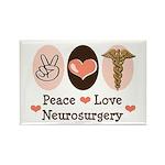 Peace Love Neurosurgery Rectangle Magnet
