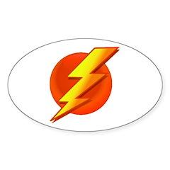 Superhero Oval Sticker