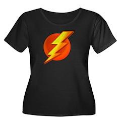 Superhero Women's Plus Size Scoop Neck Dark T-Shir