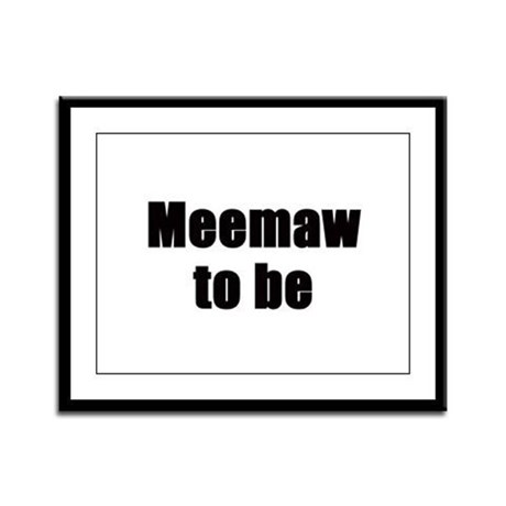 Meemaw to be Framed Panel Print