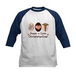 Peace Love Otolaryngology ENT Kids Baseball Jersey