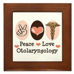 Peace Love Otolaryngology ENT Framed Tile
