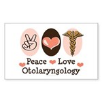 Peace Love Otolaryngology ENT Sticker 10 Pk