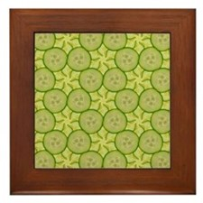 Framed Cucumber Tile
