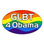 GLBT 4 Obama oval bumper sticker for 2012