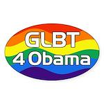 GLBT 4 Obama oval bumper sticker for 2012