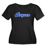 Retro Brycen (Blue) Women's Plus Size Scoop Neck D
