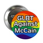 GLBT Against McCain campaign button