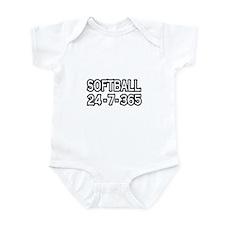 """""""Softball 24-7-365"""" Infant Bodysuit"""