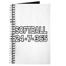 """""""Softball 24-7-365"""" Journal"""