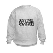 """Softball 24-7-365"" Sweatshirt"