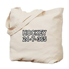 """Hockey 24-7-365"" Tote Bag"