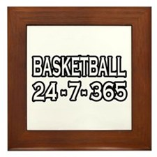 """Basketball 24-7-365"" Framed Tile"