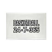 """Basketball 24-7-365"" Rectangle Magnet"