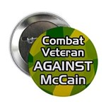 Combat Veteran Against McCain button
