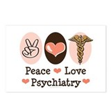 Peace Love Psychiatry Postcards (Package of 8)