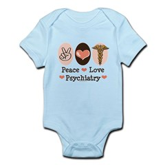 Peace Love Psychiatry Infant Bodysuit