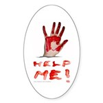 HELP ME Oval Sticker (50 pk)