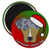 Cartoon Catahoula Leopard Dog Christmas Magnet 2