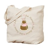 Sweet Just Married Cake Tote Bag