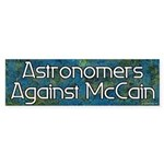 Astronomers Against McCain bumper sticker