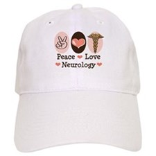 Peace Love Neurology Baseball Cap