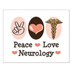 Peace Love Neurology Small Poster