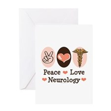 Peace Love Neurology Greeting Card