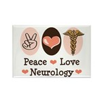 Peace Love Neurology Rectangle Magnet (100 pack)
