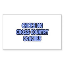 """Chicks Dig Cross Country Coaches"" Decal"