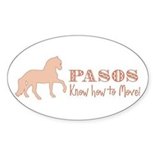 Paso Fino Horse Oval Decal