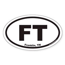 Franklin Tennessee FT Euro Oval Decal