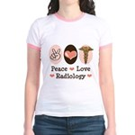 Peace Love Radiology Jr. Ringer T-Shirt