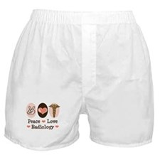 Peace Love Radiology Boxer Shorts