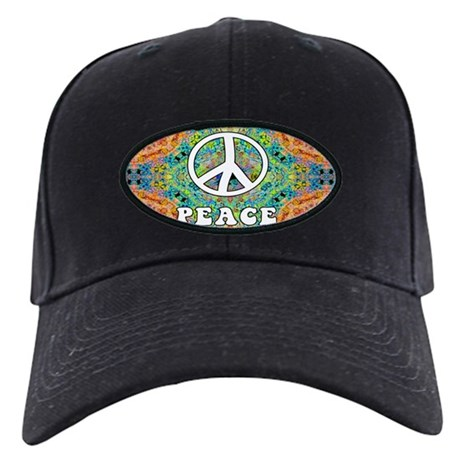 Groovy Peace Black Cap