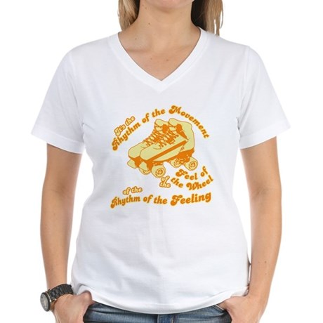 The Rhythm of the Movement Womens V-Neck T-Shirt