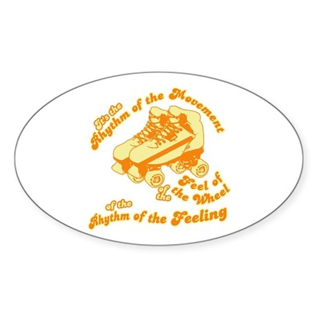 The Rhythm of the Movement Oval Sticker