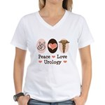 Peace Love Urology Women's V-Neck T-Shirt