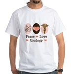 Peace Love Urology White T-Shirt