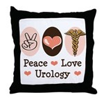 Peace Love Urology Throw Pillow