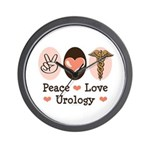 Peace Love Urology Wall Clock