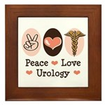 Peace Love Urology Framed Tile
